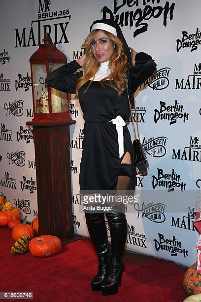 Guelcan Kamps attends the Halloween party by Natascha Ochsenknecht at Berlin Dungeon on October 27 2016 in Berlin Germany