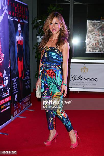 Guelcan Kamps attends the musical premiere of 'The Great Dance Of Argentina' at Musical Dome Cologne on January 3 2015 in Cologne Germany