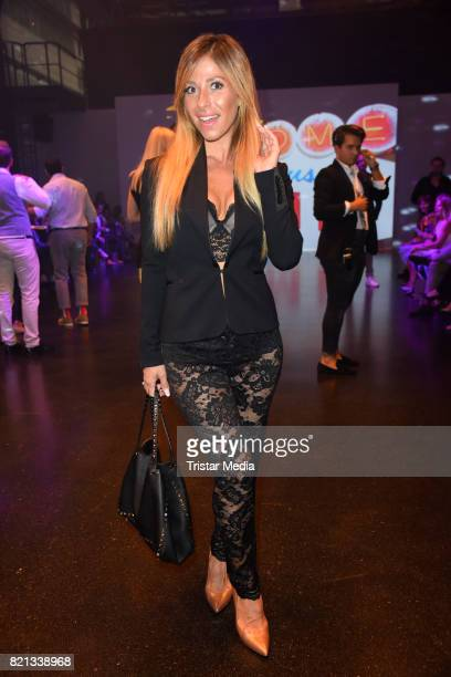 Guelcan Kamps attends the Thomas Rath show during Platform Fashion July 2017 at Areal Boehler on July 23 2017 in Duesseldorf Germany