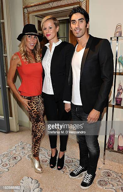 Guendalina Canessa Federica Pellegrini and Filippo Magnini attend Le Silla Press Day as part of Milan Fashion Week Womenswear S/S 2013 on September...
