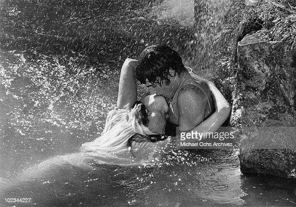 Guenevere and Lancelot fall in love in a scene from the movie 'Camelot' which was released on October 25 1967