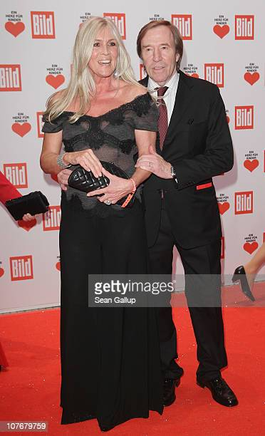 Guenter Netzer and his wife Elvira attend the 'Ein Herz Fuer Kinder' charity gala at Axel Springer Haus on December 18 2010 in Berlin Germany