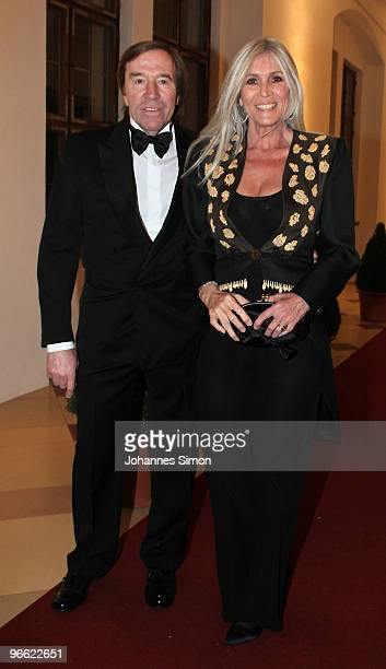 Guenter Netzer and his wife Elvira Netzer arrive for the Hubert Burda Birthday Reception at Munich royal palace on February 12 2010 in Munich Germany