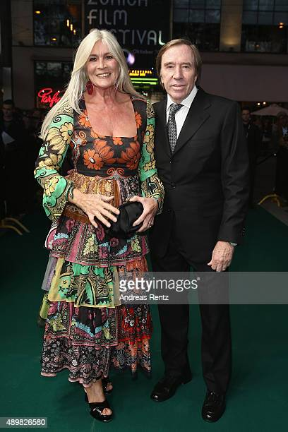 Guenter Netzer and his wife Elvira Netzer attend the 'The Man Who Knew Infinity' Premiere And Opening Ceremony during the Zurich Film Festival on...