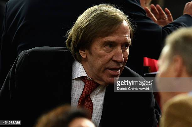 Guenter Netzer attends the international friendly match between Germany and Argentina at EspritArena on September 3 2014 in Duesseldorf Germany
