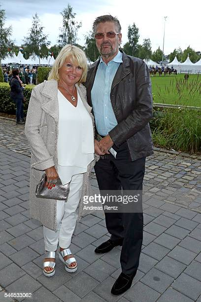 Guenther Klum and his wife Erna Klum parents of Heidi Klum attend the media night of the CHIO 2016 on July 12 2016 in Aachen Germany