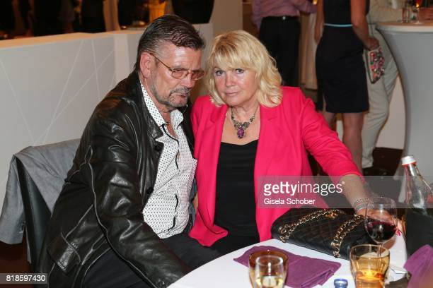Guenther Klum and wife Erna Klum parents of Heidi Klum during the media night of the CHIO 2017 on July 18 2017 in Aachen Germany