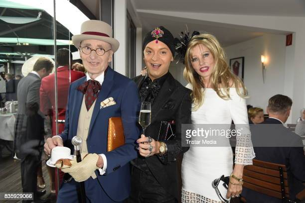 Guenther Krabbenhoeft Julian Stoeckel and Gisela Muth during the Audi Ascot Race Day 2017 on August 20 2017 in Hanover Germany