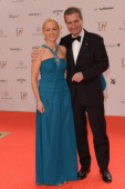 Guenther Oettinger and Friederike Beyer attend the Bambi Awards 2013 at Stage Theater on November 14 2013 in Berlin Germany