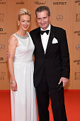 Guenther Oettinger and his wife Inken Oettinger attend the Bambi Awards 2015 at Stage Theater on November 12 2015 in Berlin Germany