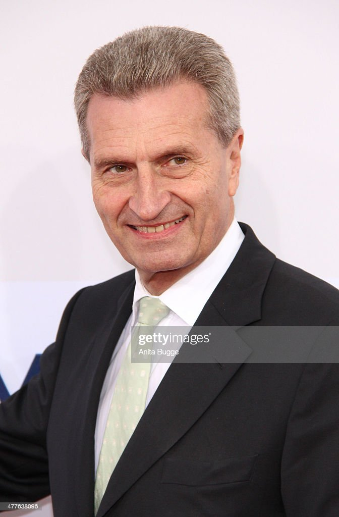 Guenther Oettinger attends the Bertelsmann Summer Party 2015 at the Bertelsmann representative office on June 18, 2015 in Berlin, Germany.
