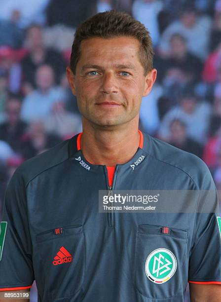Guenther Perl poses during the German Football Association referee meeting on July 9 2009 in Altensteig Germany