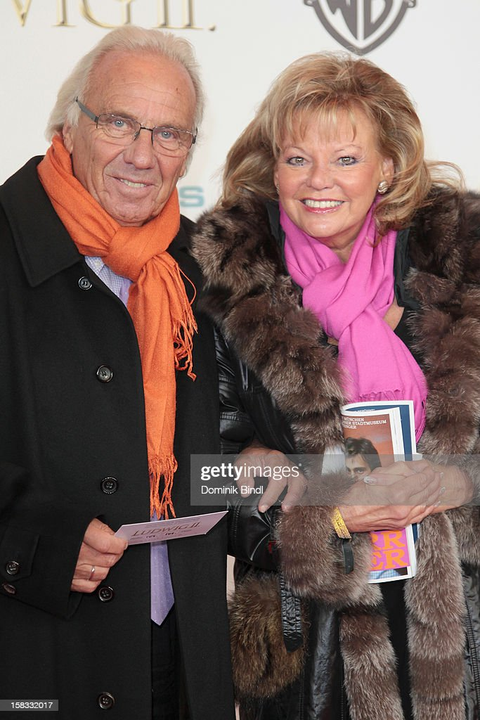 Guenther Steinberg and his wife Margot Steinberg attends Ludwig II - Germany Premiere at Mathaeser Filmpalast on December 13, 2012 in Munich, Germany.