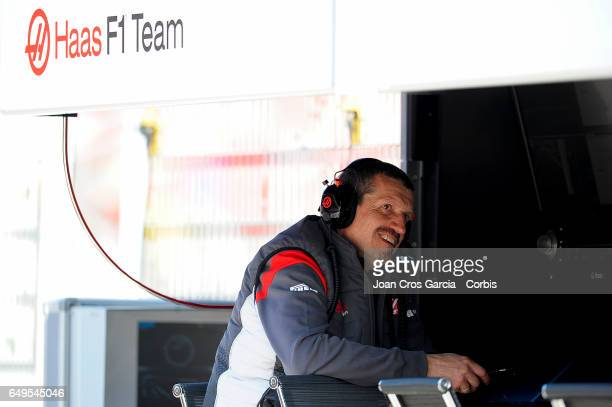 Guenther Steiner technical director of Haas F1 Team during the Formula One preseason tests on May 7 2017 in Barcelona Spain