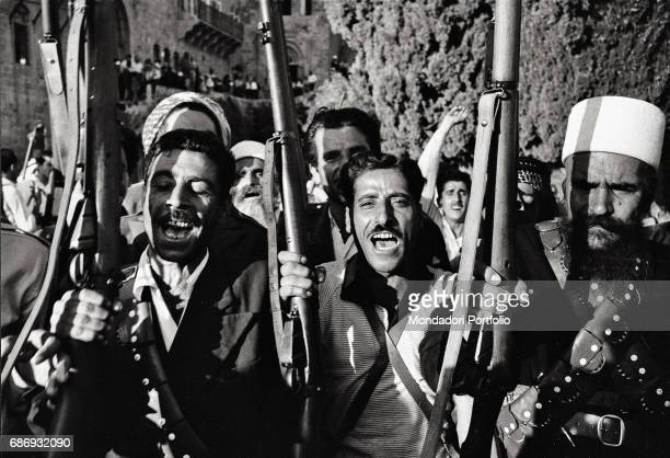 Guerrilla fighters during the Lebanon crisis in 1958 This picture is taken from the monography 'Mario De Biasi Il mio sogno Š qui' curated by Enrica...
