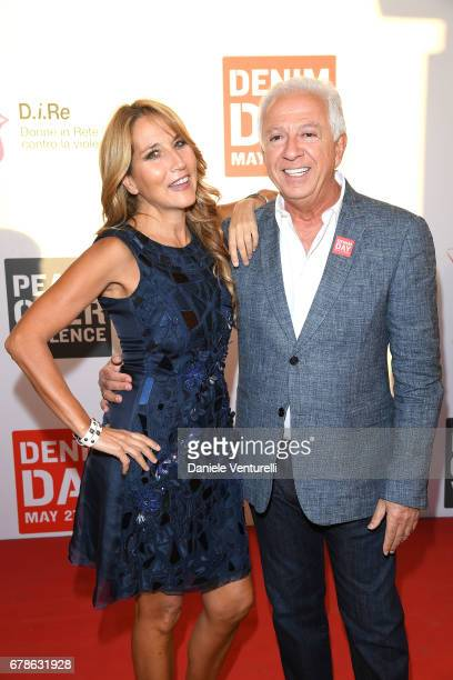 Guess designer Paul Marciano and Jo Squillo attend the Guess Foundation Denim Day 2017 at Palazzo Barberini on May 4 2017 in Rome Italy