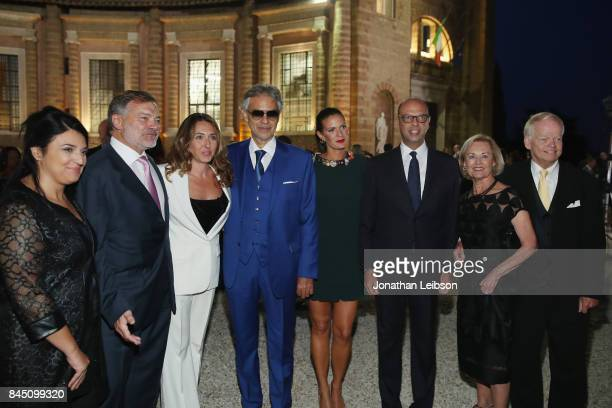 Guest ABF Chairman Stefano Aversa Regine Aversa Andrea Bocelli Veronica Bocelli Italy's Foreign Affairs Minister Angelino Alfano Nancy Walker and...
