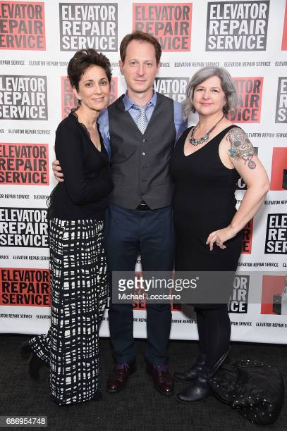 Guest actor Leo Marks and playwright Erin Courtney attend the Elevator Repair Service Theater 25th Anniversary Gala at Tribeca Rooftop on May 22 2017...