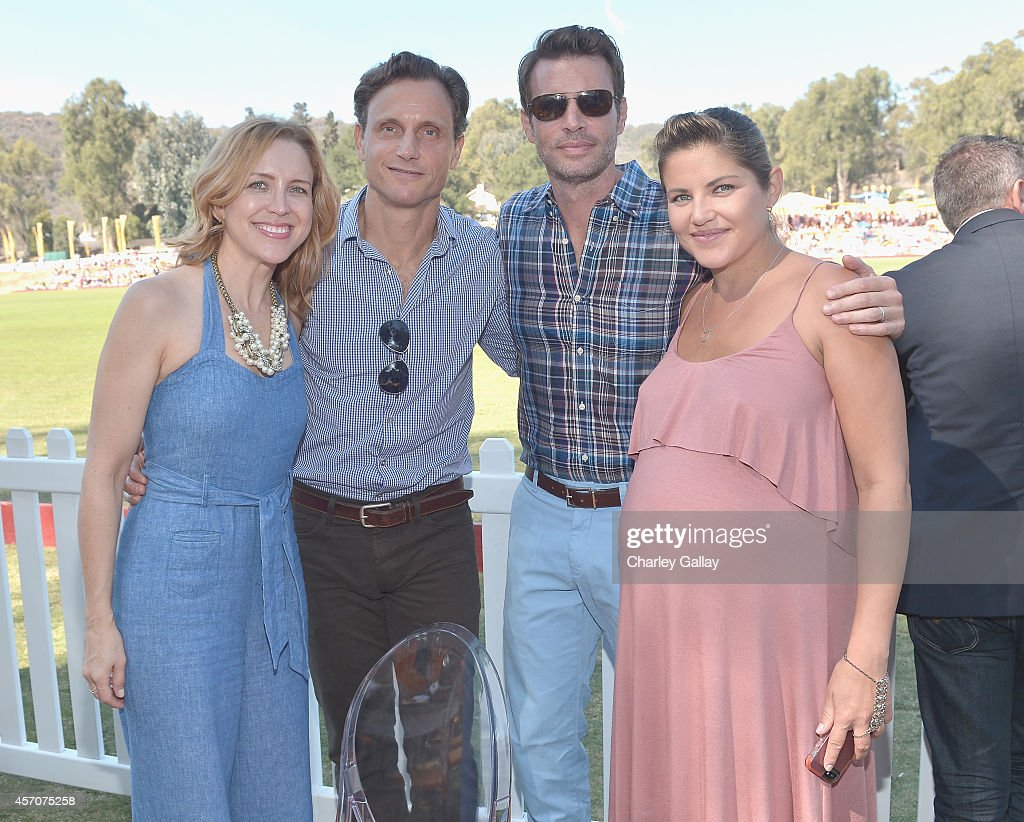 Guest actor Tony Goldwyn Scott Foley and Marika Dominczyk attend the FifthAnnual Veuve Clicquot Polo Classic at Will Rogers State Historic Park on...