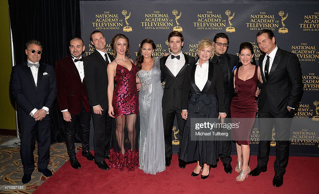 Guest, actors Andre Bauth, Jared Safier, Celeste Fianna, Jade Harlow, Kriston Andrews, Mary Beth Evans, Gregori J. Martin and Kira Reed Lorsch and Vincent De Paul attend the 42nd Annual Daytime Creative Arts Emmy Awardsat Universal Hilton Hotel on April 24, 2015 in Universal City, California.