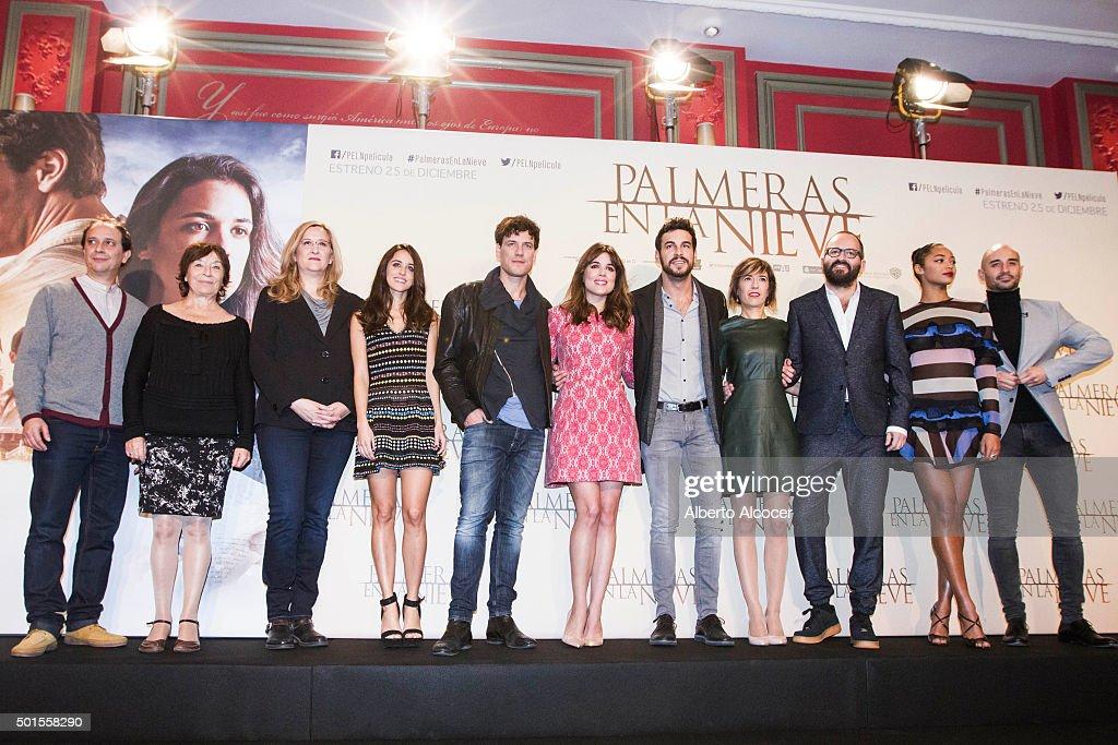 'Palmeras En La Nieve' Madrid Photocall