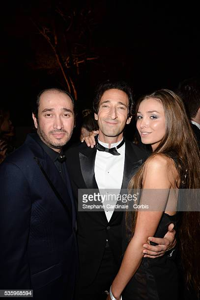 Guest Adrien Brody and Lara Leito at the De Grisogono 'Fatale In Cannes' party during the 67th Cannes Film Festival at Hotel du CapEdenRoc