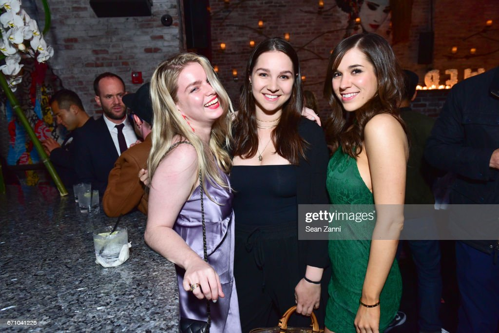Guest, Alexa Malevitis and Alyssa Murphy attend the after party of the premiere of FLOWER for the Tribeca Film Festival at TAO Downtown on April 20, 2017 in New York City.