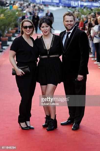 Guest Alice Lowe and Steve Blackburn attend closing ceremony of 27th Dinard British Film Festival on October 1 2016 in Dinard France