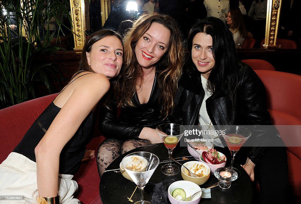 (L to R) Guest, Alice Temperley and Emily Sheffield attend the AnOther Magazine and Dazed & Confused party with Belvedere Vodka at the Cafe Royal hotel on February 18, 2013 in London, England.