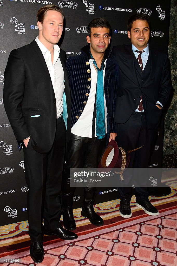Guest Amit Bhatia and Jamie Reuben attends the Reuben Foundation Dinner at Bridgewater House on November 21 2013 in London England