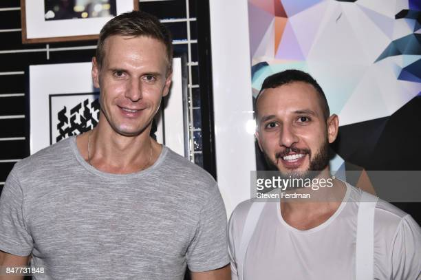 A guest and Ahmad Barquwi attend PMA with KANTRR Labs and Pierce Capital Entertainment host the Wrap Party of 'Tu Me Manques' Sponsored by Singani 63...