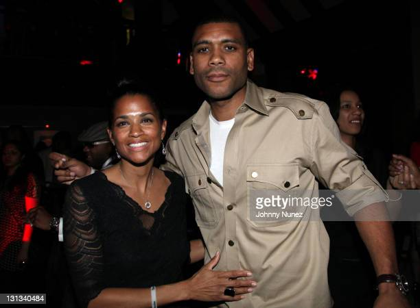 Guest and Allan Houston attend the Birthday Gala for NY Knicks Legend Allan Houston at Providence on April 8 2011 in New York City