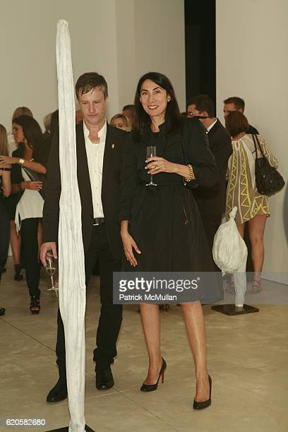 Guest and Ann Duong attend LOUIS XIII Celebrates WALLPAPER'S Guest Editor LOUISE BOURGEOISE with HELMUT LANG at Cheim Reid and Glasshouses on...