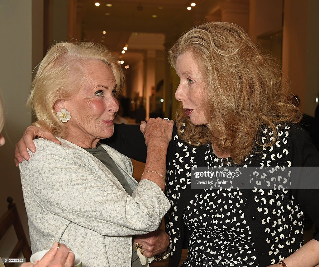 Guest and Annabelle Weidenfeld attend a celebration of the Life of Lord George Weidenfeld on June 26, 2016 in London, England.