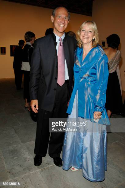 Guest and Barbara Haskell attend GEORGIA O'KEEFFE 'ABSTRACTION' Opening Reception and Dinner at The Whitney Museum on September 16 2009 in New York