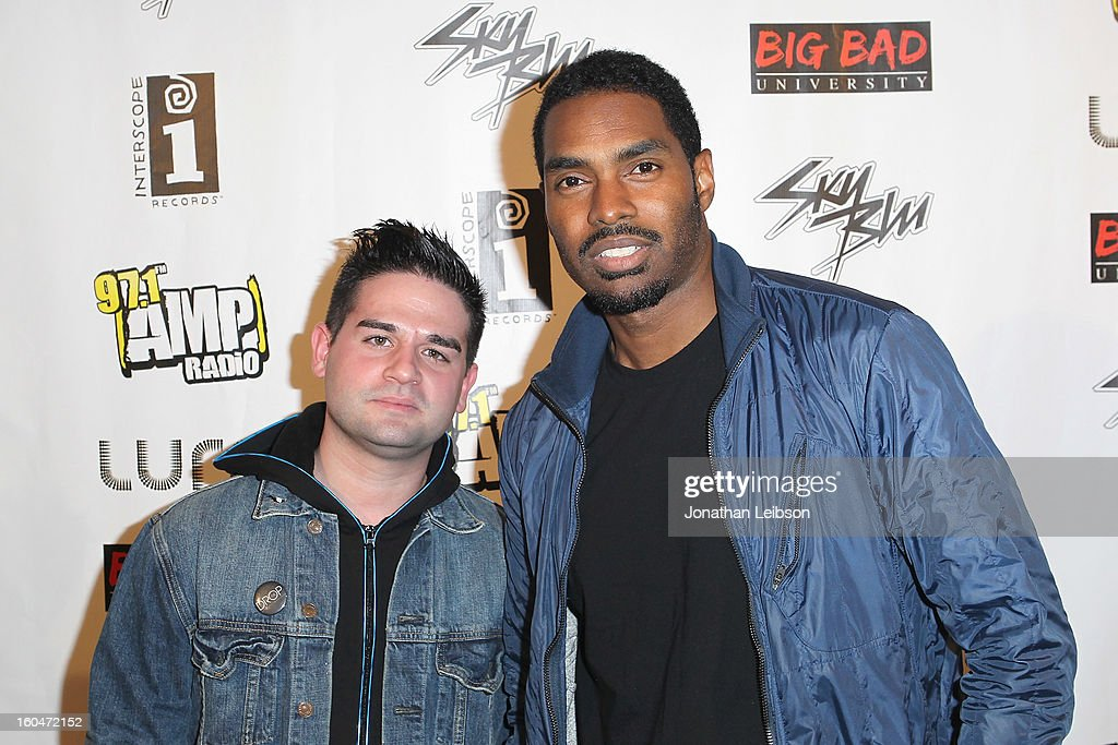 Guest and Bryce Wilson at the SkyBlu 'Pop Bottles' Single Release Party at Lure on January 31, 2013 in Hollywood, California.