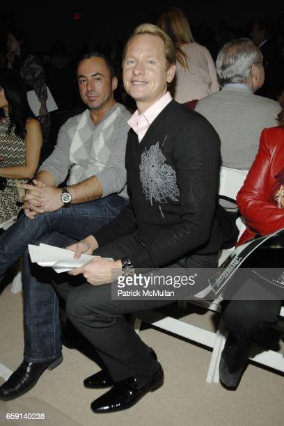 Guest and Carson Kressley attend DENNIS BASSO Fall 2009 Collection at Bryant Park Tents on February 17 2009