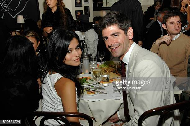 Guest and Daniel Cappello attend YAZ and VALENTINE HERNANDEZ Private Dinner for CHRISTIAN COTA at Brasserie Cognac on September 10 2008 in New York...