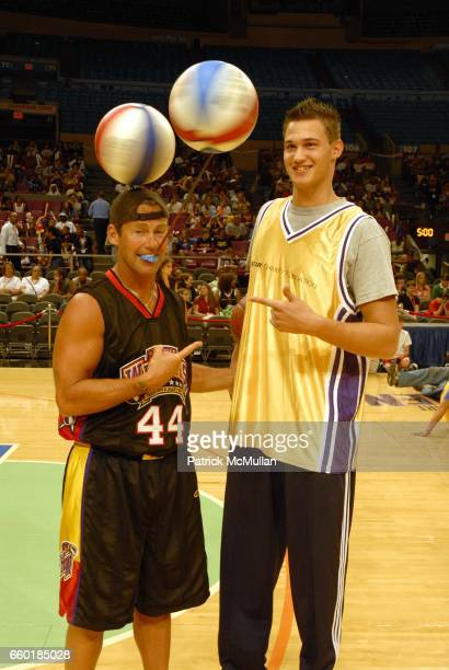Guest and Danilo Gallinari attend Seventh Annual Istar Charity Shootout at Madison Square Garden on July 20 2009 in New York City