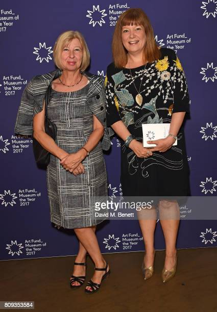 Guest and Diane Lees attend the Art Fund Museum Of The Year drinks reception at The British Museum on July 5 2017 in London England