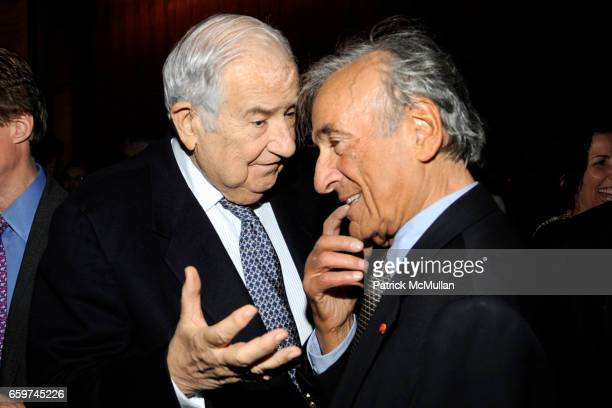 Guest and Elie Weisel attend PARADE MAGAZINE and SI Newhouse Jr honor Walter Anderson at The 4 Seasons Grill Room on March 31 2009 in New York City