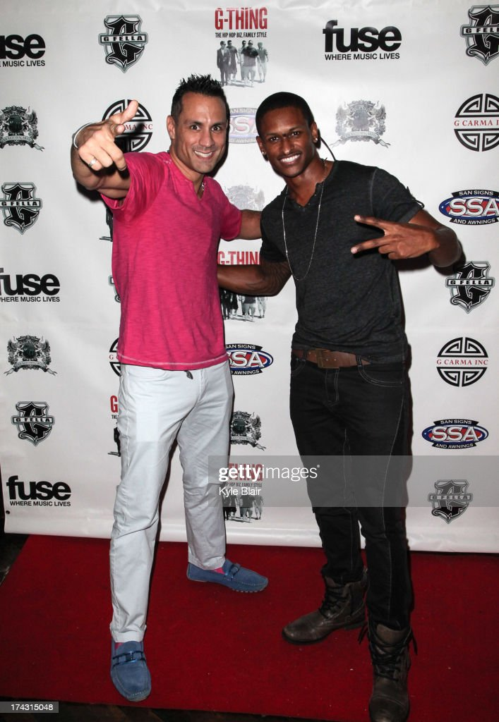 Guest and J Rome attend the 'G-Thing' Series Premiere Party at The Griffin on July 23, 2013 in New York City.