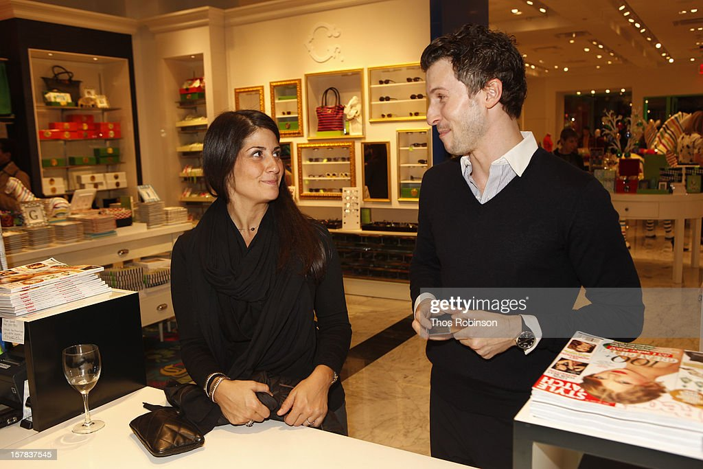 Guest and Jon Zeiders, vp of merchandizing, C. Wonder attend C. Wonder and People StyleWatch celebrate the holidays at C. Wonder on December 6, 2012 in New York City.