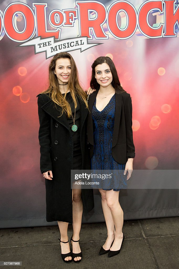 Guest and Julia Udine attend 2016 Actors Fund Ziggy Bear ceremony and performance at Winter Garden Theatre on May 2, 2016 in New York City.