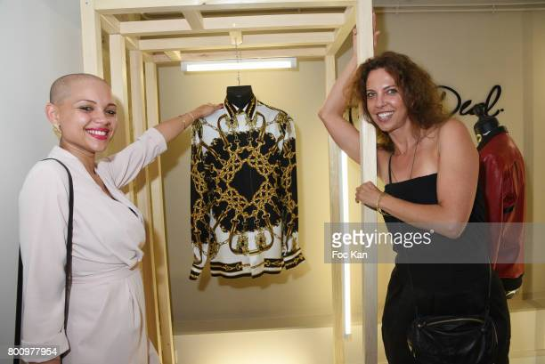Ludivine Lepez and Karen Yassine pose during the French Deal Cocktail as part of Paris Fashion Week on June 25 2017 in Paris France