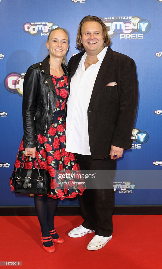 Guest and Martin Klempnow attends the 17th Annual of the German Comedy Awards at Coloneum on October 15, 2013 in Cologne, Germany.