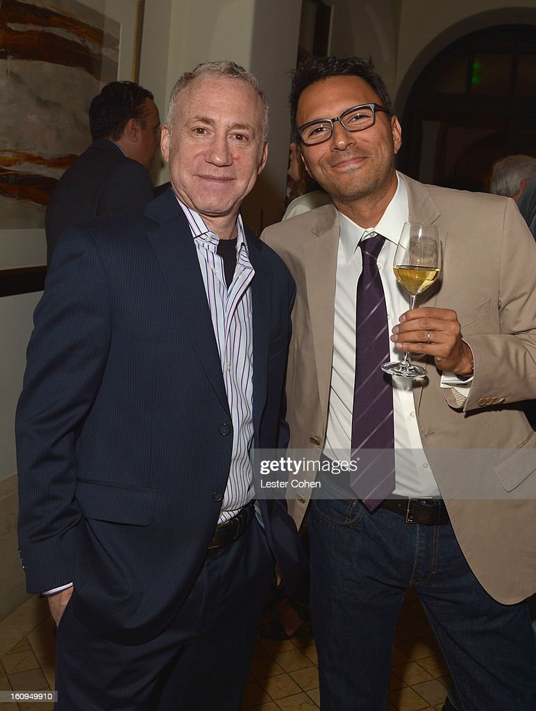 Guest and Monte Olsen attend the Friends N Family Dinner Hosted by Mark Beaven and Andy Kipnes at Scarpetta on February 7, 2013 in Beverly Hills, California.
