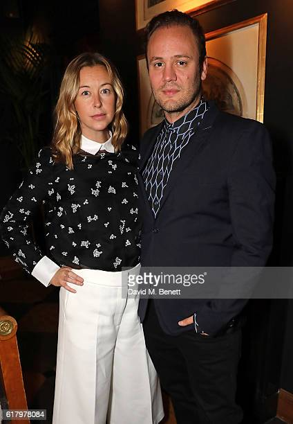 Guest and Nicholas Kirkwood attend a private dinner hosted by Hikari Yokoyama to celebrate the Harper's Bazaar charity auction with Paddle8 in aid of...