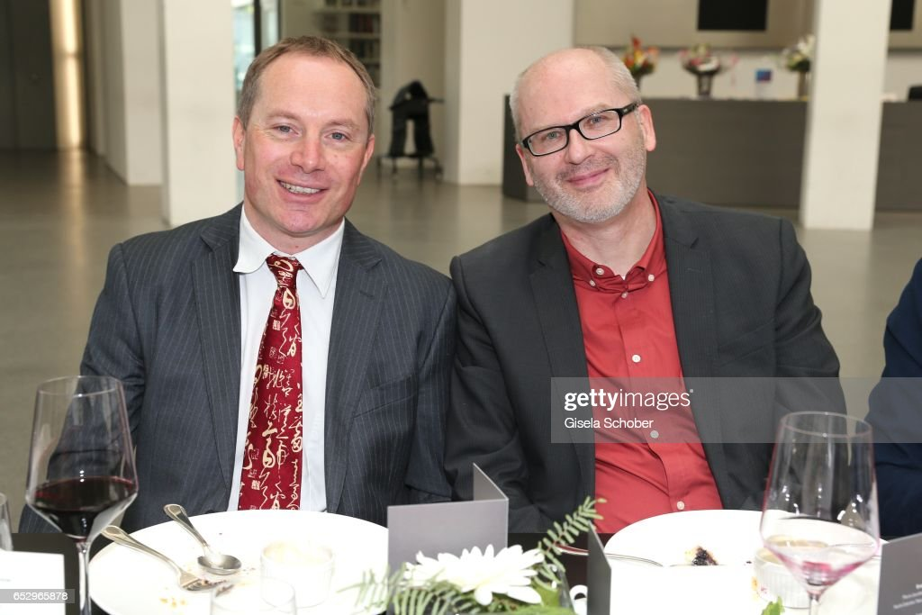 Guest and Peter Grandl during the Gentlemen Art Lunch at Pinakothek der Moderne on March 13, 2017 in Munich, Germany.