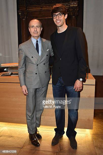 Guest and Ricardo Kaka attend the Audemars Piguet Royal Oak Offshore exibition as part of Untold event at Palazzo Bagatti Valsecchi on April 10 2014...
